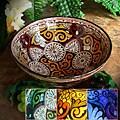 Handmade Engraved Ceramic Bowl (Morocco)