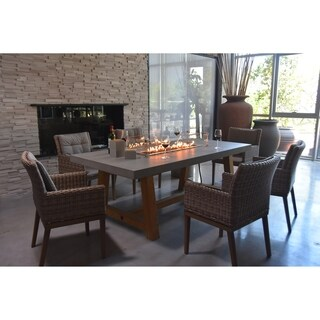Elementi Sonoma Dining Table Concrete Propane 45,000 BTU Auto-Ignition