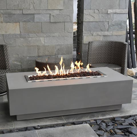 Gebaro Concrete Auto-ignition Outdoor Fire Table by Havenside Home