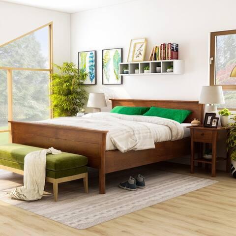 Furniture of America Nisa Transitional Dark Cherry 2-piece Bedroom Set