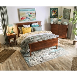 Furniture of America Nisa Brown 3-piece Bedroom Set w/ 8-drawer Chest