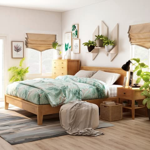 Furniture of America Larc Brown 3-piece Bedroom Set w/ 5-drawer Chest
