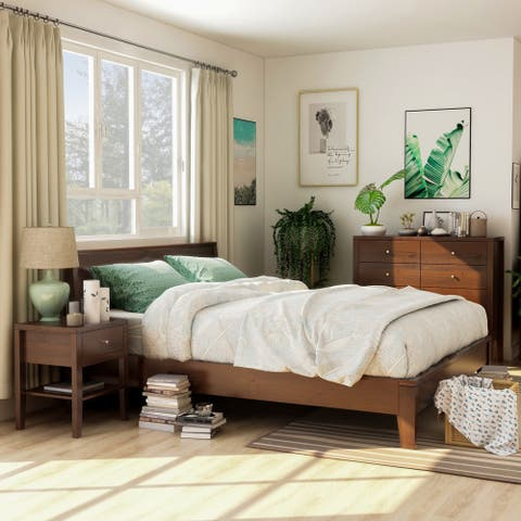 Furniture of America Larc Brown 3-piece Bedroom Set w/ 8-drawer Chest