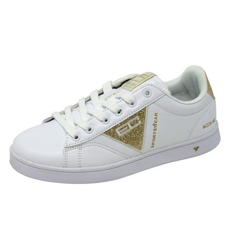 Enrico Coveri Women Niza Glitter Lace Up Fashion Sneaker