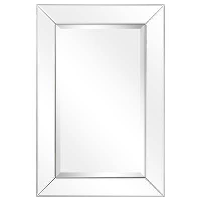 Beveled Rectangle Wall Mirror, Bathroom,Bedroom,Living Room,Ready to Hang - Clear