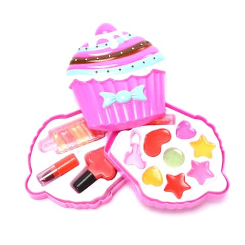 Wonderplay Pretend Makeup for Girls Play Cosmetic Set Make Up Toys Kit Gifts for Kids
