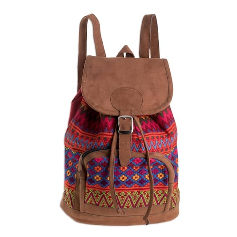 Handmade Flowers Of Comalapa Cotton Backpack (Guatemala)
