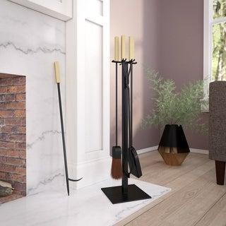 Strick & Bolton Vasanta Modern Fireplace Tools (Set of 4)