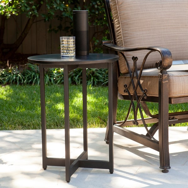 Havenside Home Marilla Indoor/Outdoor Round Accent Table