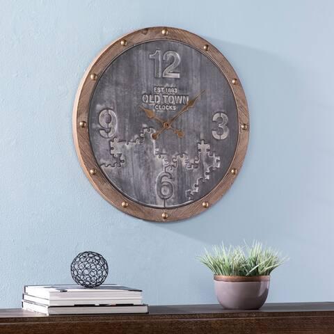 Carbon Loft Medford Industrial Round Metal Wall Clock
