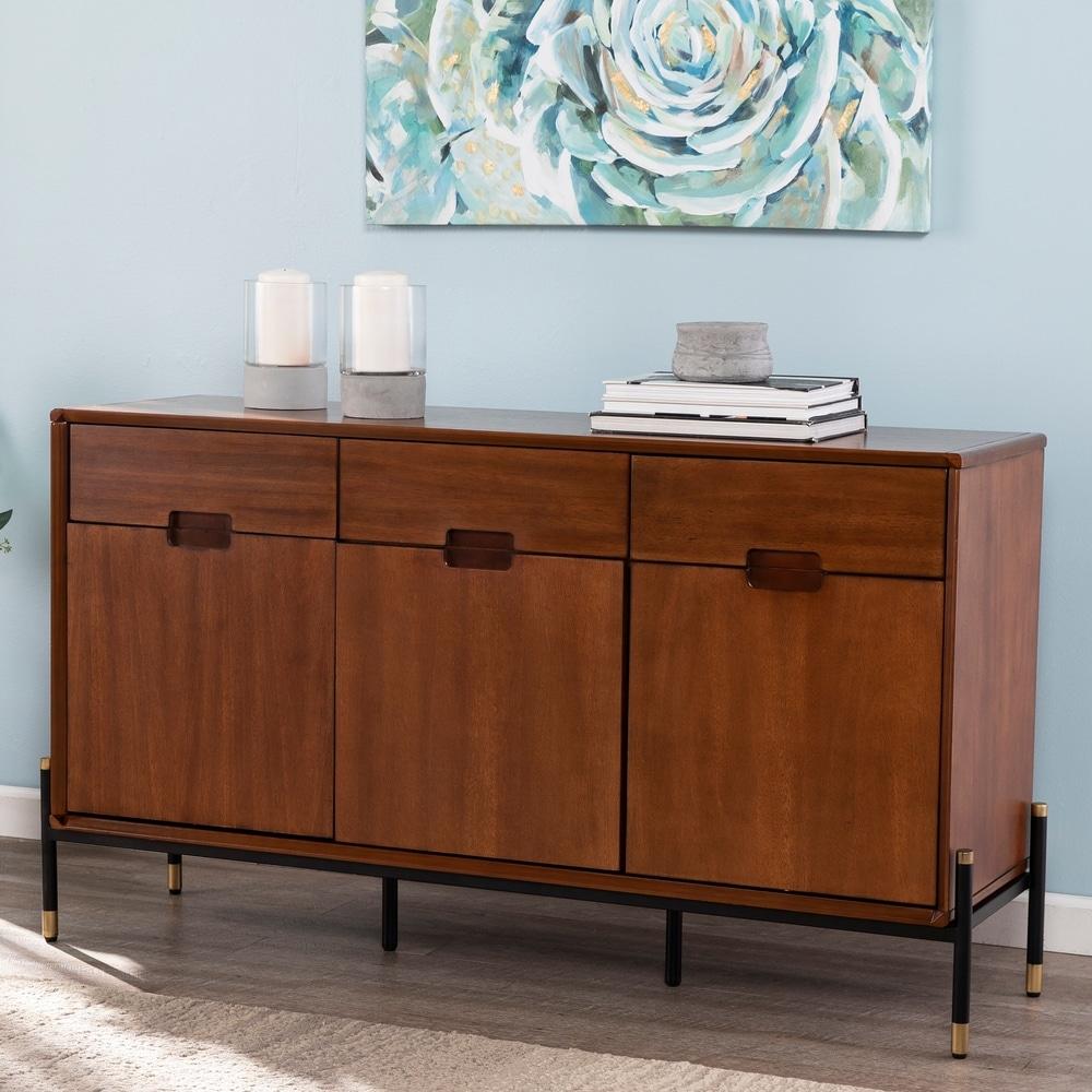 Carson Carrington  Lauriston Mid-century Modern Buffet Cabinet (Brown)