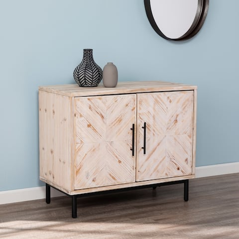 The Gray Barn Vena White Reclaimed Wood Storage Console Cabinet