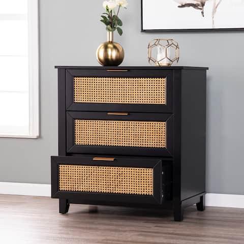 Holly & Martin Chekshire Black 3-Drawer Storage Chest