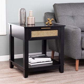 Link to Holly & Martin Chekshire Black Square End Table w/ Storage Similar Items in Dressers & Chests