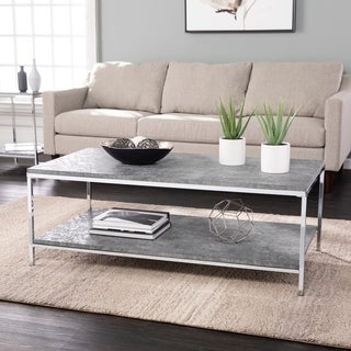 Link to Silver Orchid Levico Faux Concrete Cocktail Table Similar Items in Living Room Furniture