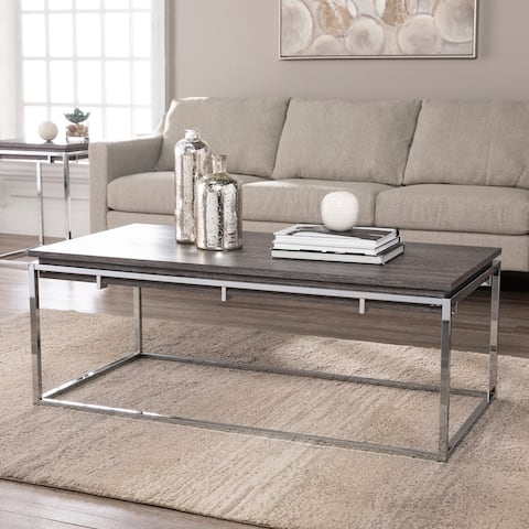 Silver Orchid Ferney Contemporary Cocktail Table