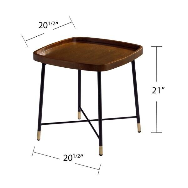 Carson Carrington Malvina Midcentury Modern Square End Table
