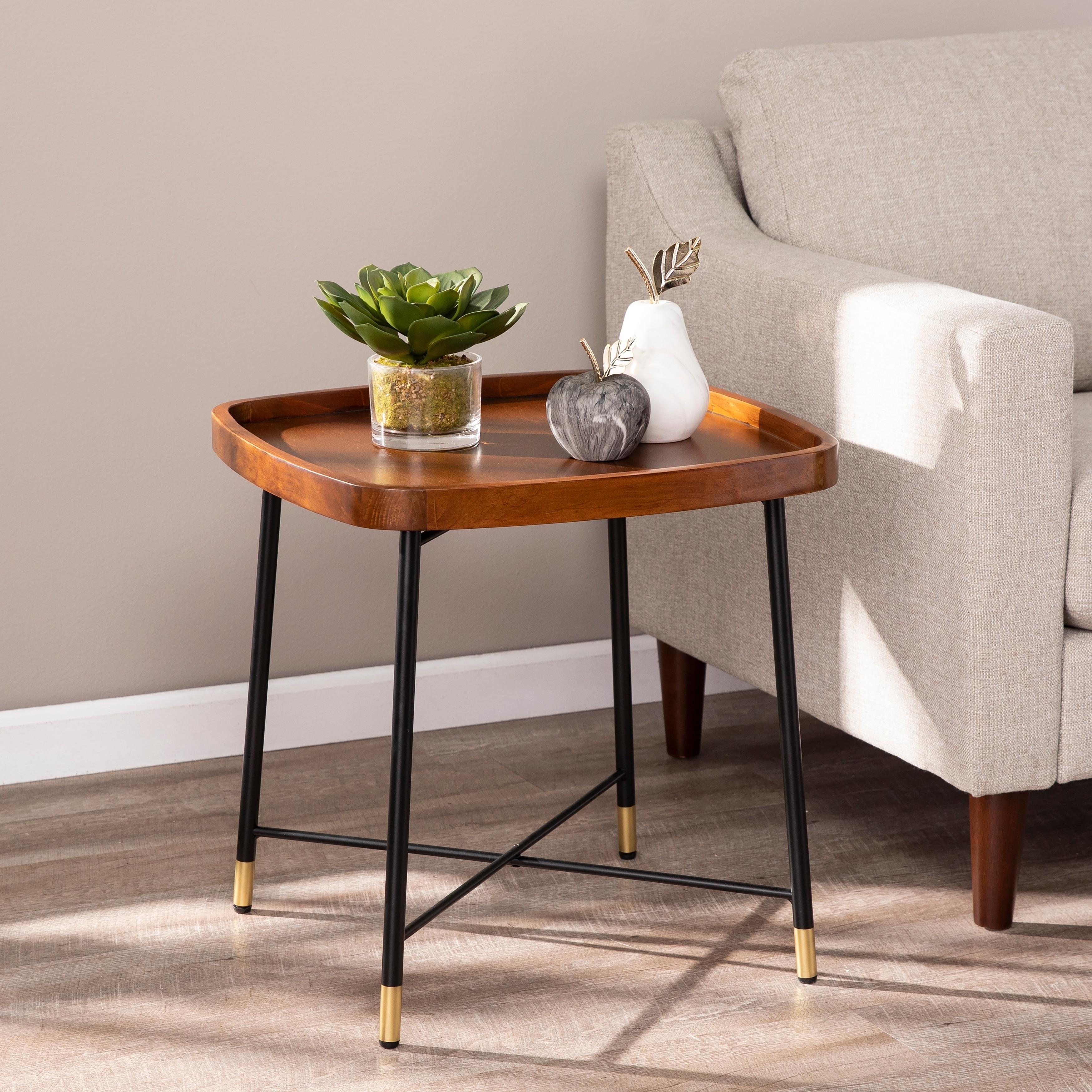 Carson Carrington Home Malvina Midcentury Modern Square End Table