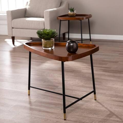Carson Carrington Malvina Midcentury Modern Triangle End Table