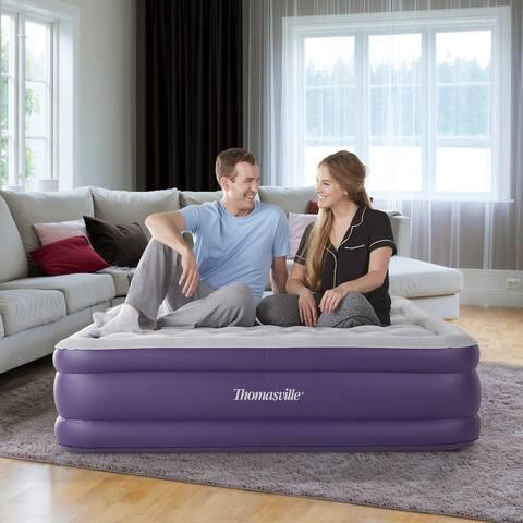 "Thomasville Sensation 15"" Raised Adjustable Air Bed Mattress-"