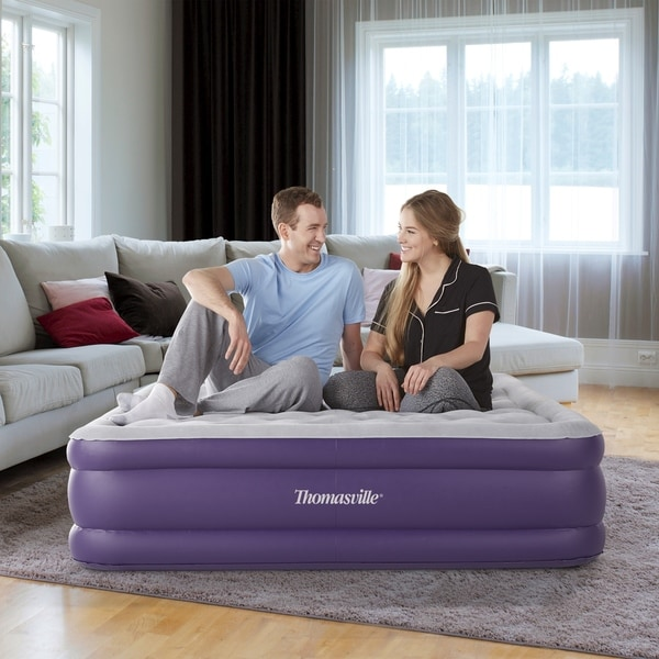 "Thomasville Sensation 15"" Raised Adjustable Air Bed Mattress-. Opens flyout."