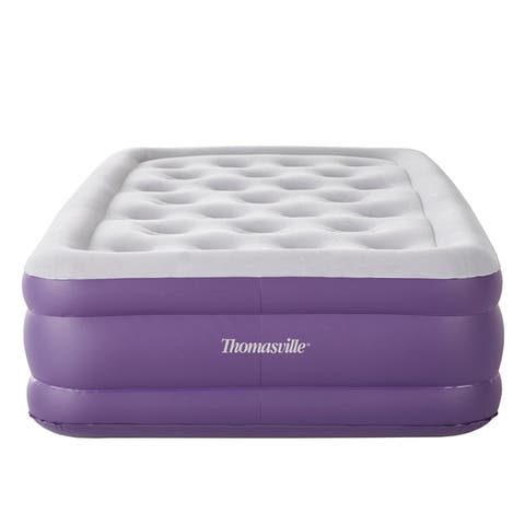 "Thomasville Sensation 15"" Raised Adjustable Air Bed Mattress-"