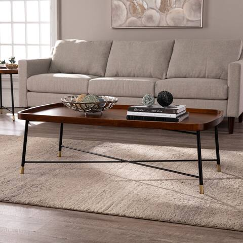 Carson Carrington Malvina Mid-century Modern Brown Coffee Table