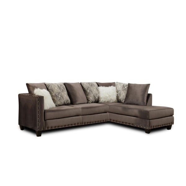 Pedro Sectional Melon Cloud - Bevin Marble