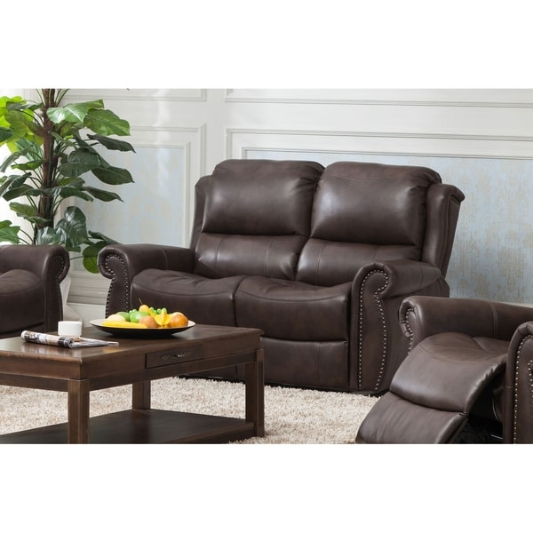 Carmelo Powered Recliner Loveseat Brown