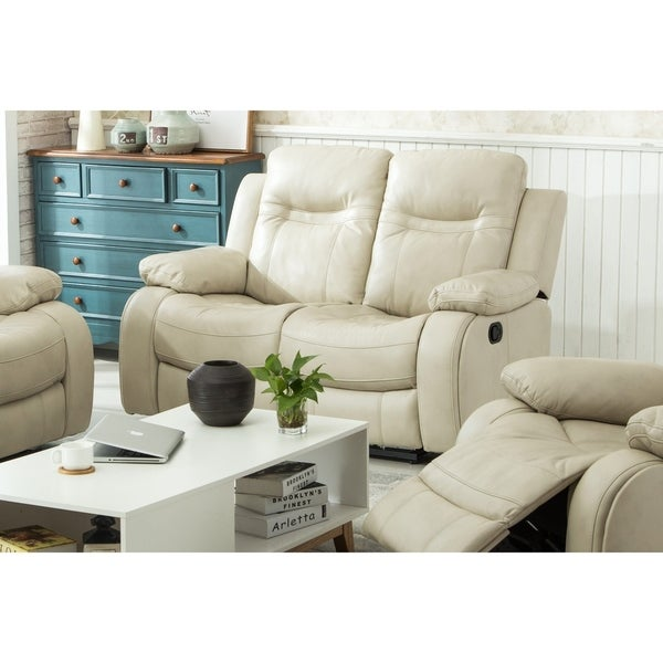 Carlo Recliner Loveseat with Manual Handle Taupe