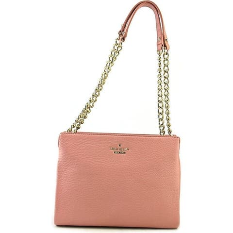 Kate Spade Emerson Place Phoebe Smokey Rose Mini Convertible Leather Shoulder Bag