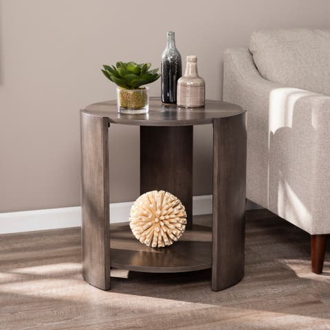Strick & Bolton Alondra Round Contemporary End Table