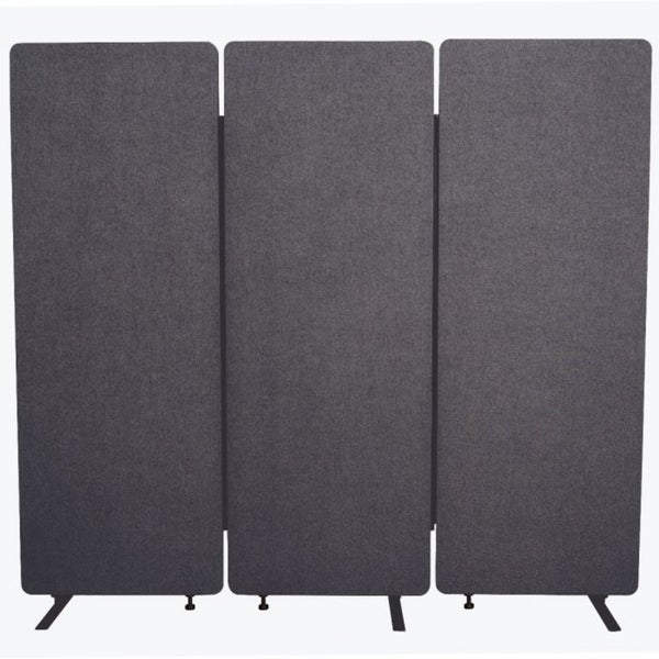 RECLAIM Acoustic Room Dividers - 3 Pack in Slate Gray- RCLM7266ZSG