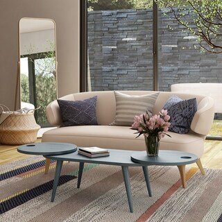 Link to Carson Carrington Shorewood Modern Oval Expandable Wood Cocktail Table Similar Items in Living Room Furniture