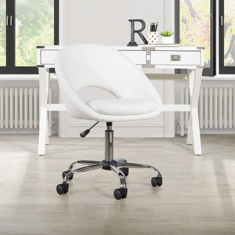 Milo Upholstered Modern Office Chair with Chrome Base