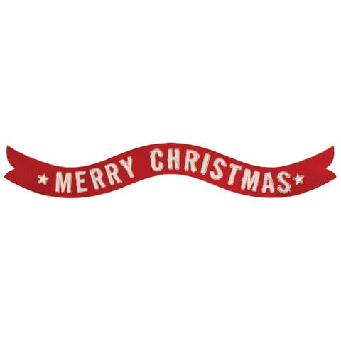 Merry Christmas Banner Wall Sign