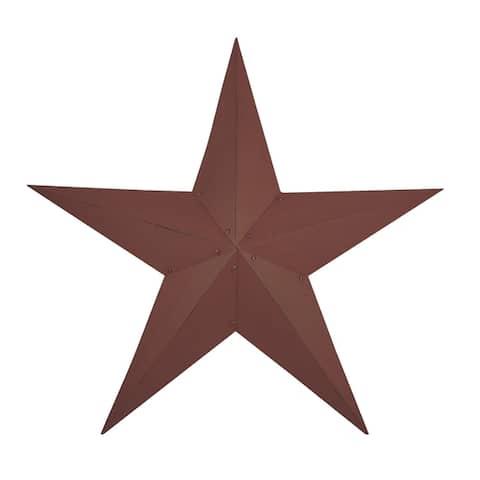 "Barn Star - Burgundy - 36"""