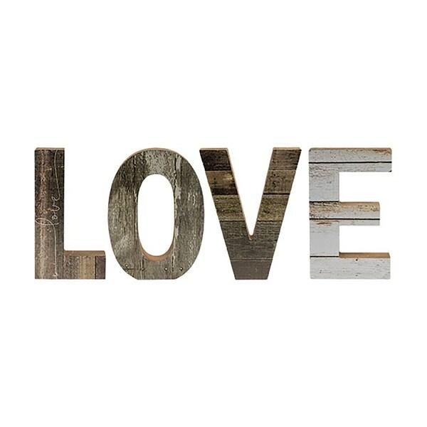 """4/Set Farmhouse Wood Letters """"Love"""""""