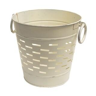Farmhouse White Olive Bucket 9 inch