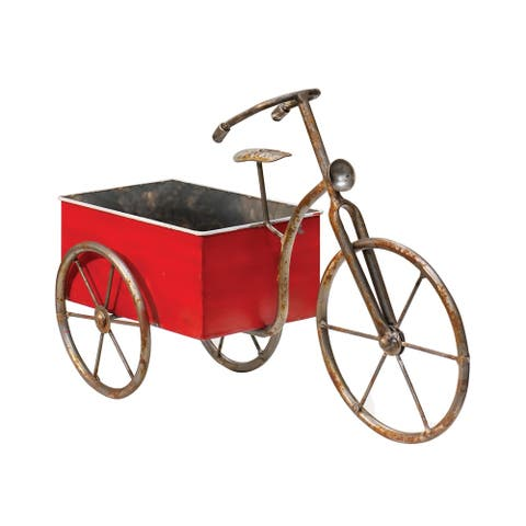 Rustic Red Tricycle