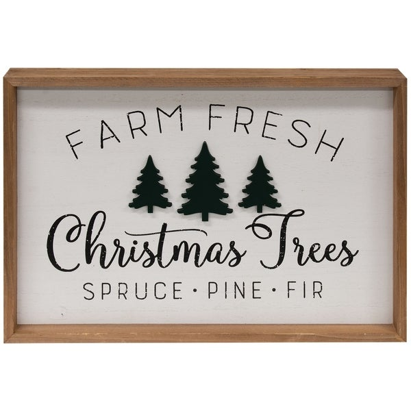 Farm Fresh Trees Framed Wall Sign. Opens flyout.