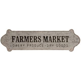 Farmers Market Distressed Metal Wall Sign
