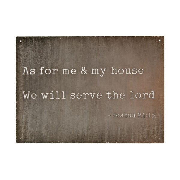As For Me and My House Cutout Metal Sign