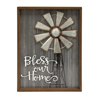 The Gray Barn Bless Our Home Windmill Wall Sign