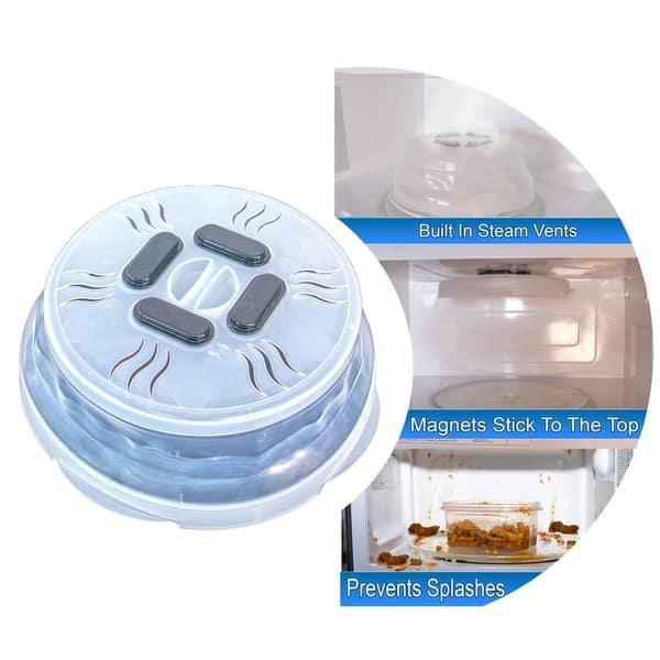 US STOCK Magnetic Hover Microwave Splatter Steam Vents Anti Splatter Food Cover