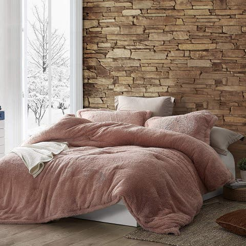 Coma Inducer Oversized Comforter - The Original Plush - Sepia Rose (Shams not Included)
