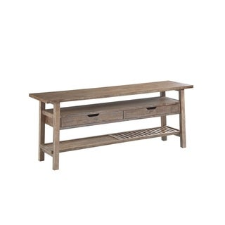Transitional Brown Wood TV Stand Boraam Sonoma Collection