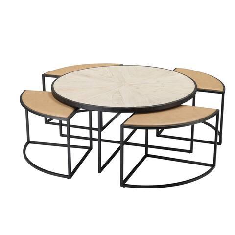 Burnham Home 5-Piece Olivia Coffee Table