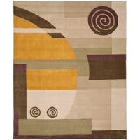 "Safavieh Handmade Rodeo Drive Modern Abstract Beige Wool Rug - 7'6"" x 9'6"""