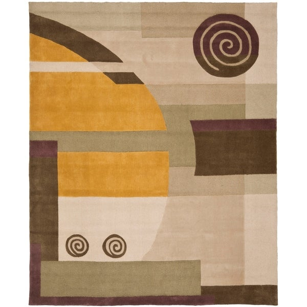"Safavieh Handmade Rodeo Drive Modern Abstract Beige Wool Rug - 7'6"" x 9'6"""